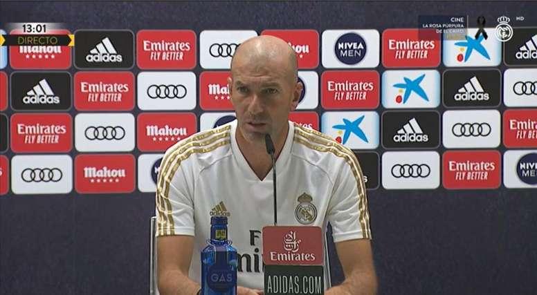 zinedine zidane en la rueda de prensa previa al real madrid villarreal de primera division 2019 20 captura realmadrid - Onze d'Afrik - L'actualité du football