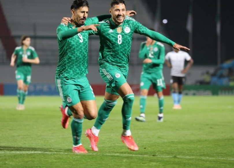 Algérie Botswana Bounedjah Belaïli joie 2 - Onze d'Afrik - L'actualité du football