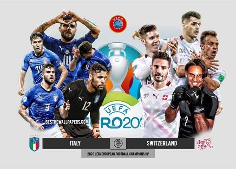 thumb2 italy vs switzerland uefa euro 2020 preview promotional materials football players - Onze d'Afrik - L'actualité du football