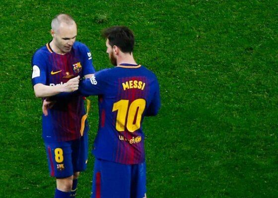 Andres Iniesta et Lionel Messi 1082163 - Onze d'Afrik - L'actualité du football