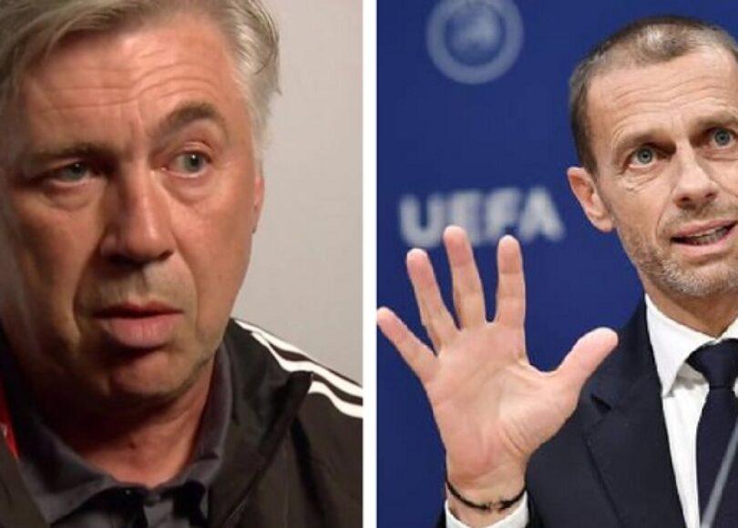 Real Madrid la response salee de Carlo Ancelotti au president UEFA - Onze d'Afrik - L'actualité du football